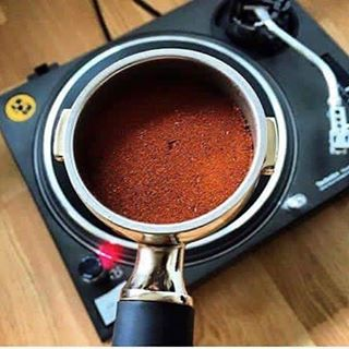 1 photo 2 passions! dj deejay coffee caffeine turntable technicshellip