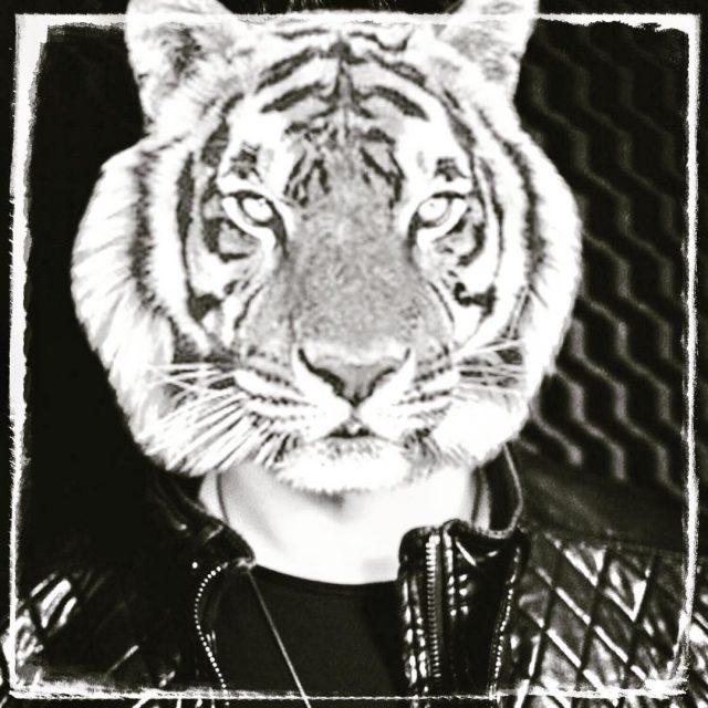 Tiger Man dj deejay tiger tigerman tigerface thankgodisfriday weekend blackandwhitehellip